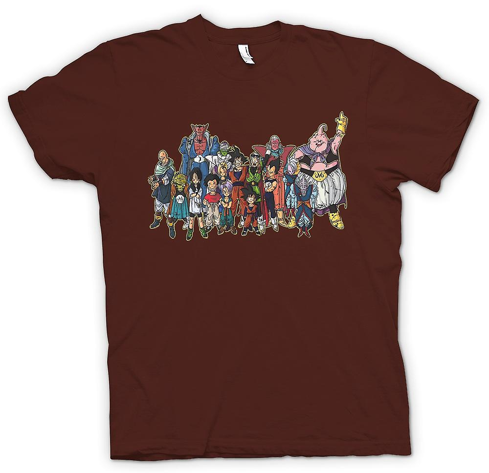 Mens T-shirt - Dragon Ball Z Gang - Kids TV