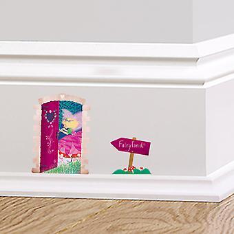 Полноцветный Fairyland дверь плинтус стикер