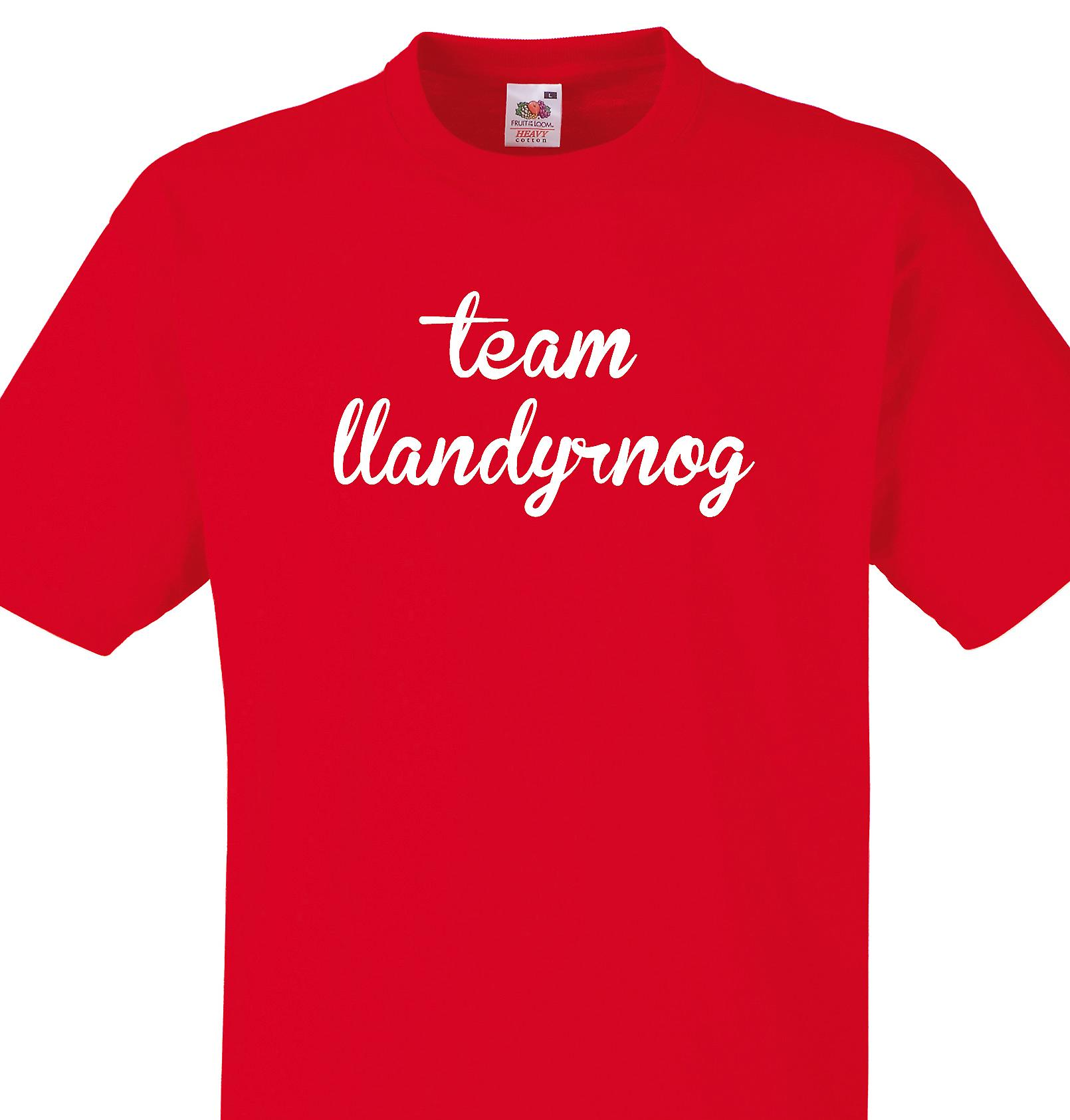 Team Llandyrnog Red T shirt