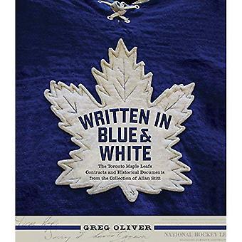 Skrivet i blått och vitt: Toronto Maple Leafs kontrakt och historiska dokument från samlingen av Allan...