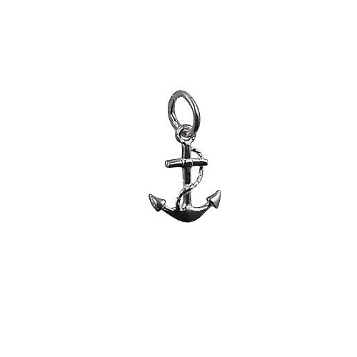 Silver 13x10mm anchor symbol of hope Pendant or Charm