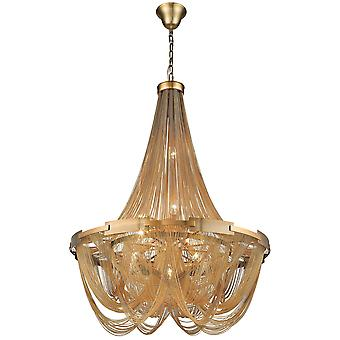 Spring Lighting - Southampton Small Brass Six Light Chandelier  OPUU050CSB6TUBU
