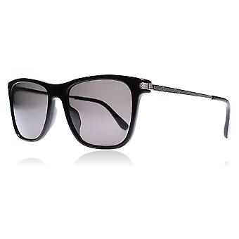 dunhill SDH005 700P Black / Silver SDH005 Black/Silver 700P 55 Square Sunglasses Polarised Lens Category 3 Lens Mirrored Size 55mm