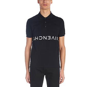 قميص بولو القطن الأسود جيفنشي