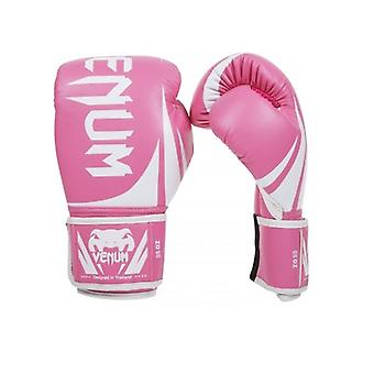 Venum Challenger 2.0 Hook and Loop MMA Training Boxing Gloves - Pink/White