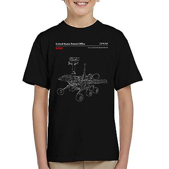 NASA Mars Exploration Rover schematische Kids T-Shirt