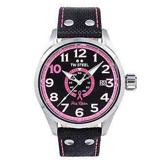 Montre TW Steel Black watch 45 Mm Tw973 ruban rose