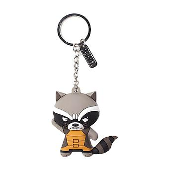 Guardians of the Galaxy Rocket Raccoon 3D Rubber Keyring