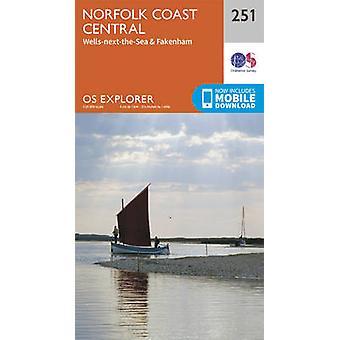 Norfolk Coast Central by Ordnance Survey - 9780319244470 Book