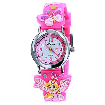 Ravel Time Teacher 3D Fairy Design Pink Strap Watch + Telling Time Award 1513.76