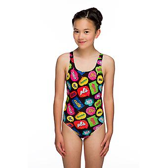 Maru txt Pacer auto back swimwear para meninas