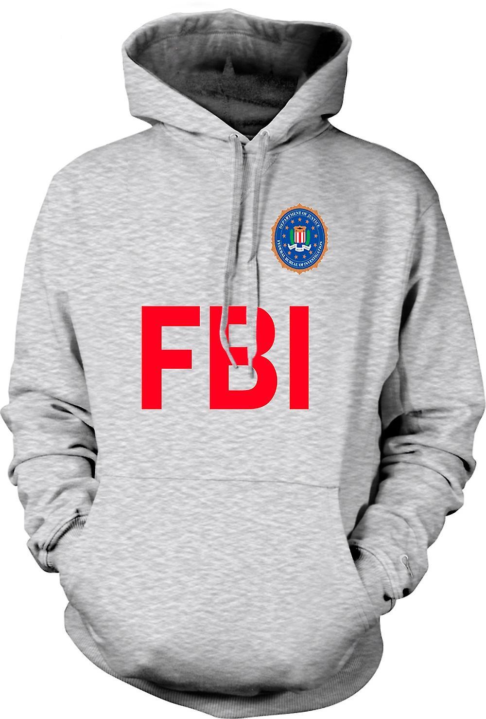 Mens Hoodie - FBI USA - polisen