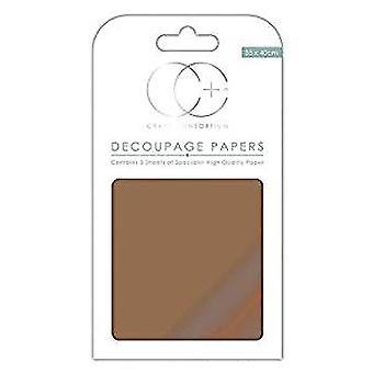 Craft Consortium metalliska koppar decoupage papper (CCMDECP002)