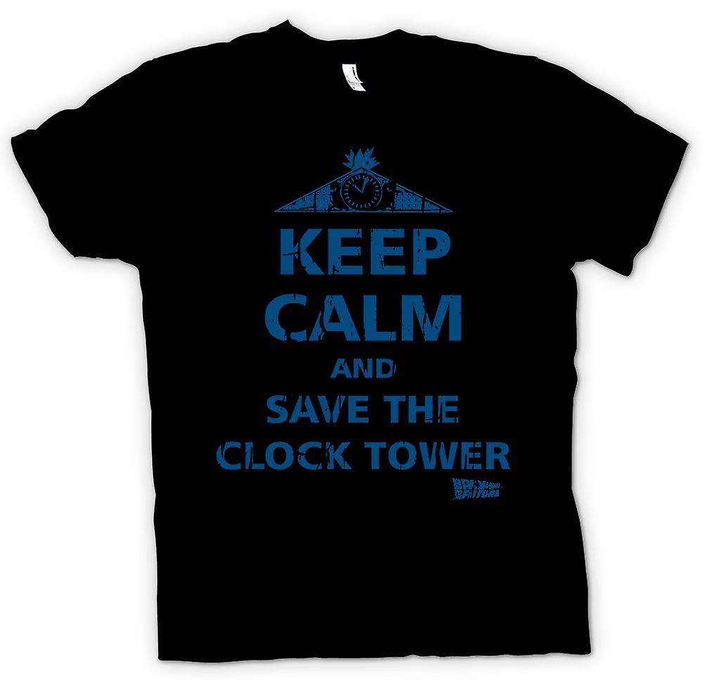 Mens T-shirt - Keep Calm And Save The Clock Tower - Back To The Future