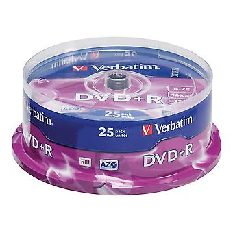 DVD&R 4.7 Gb 25pack 16x certified, single layer, spindle