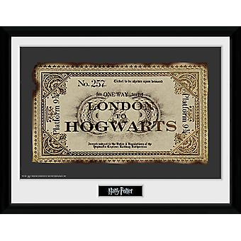 Harry Potter-Ticket gerahmt Collector Print 40x30cm