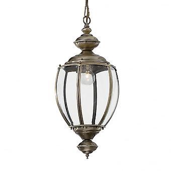 Ideal Lux Norma Single Pendant Light Big Bronze