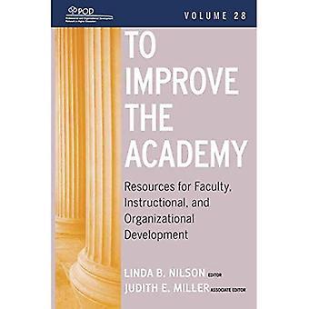 Pour améliorer l'Académie: v. 28: ressources pour le perfectionnement du corps professoral, pédagogiques et organisationnelles