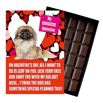 Pekingese Gift for Valentines Day Presents For Dog Lovers Boxed Chocolate