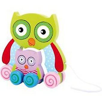 البومه ليجلير لسحب (الرضع والأطفال، اللعب، مرحلة ما قبل المدرسة، والأطفال الرضع، دفع وسحب لعب الأطفال)