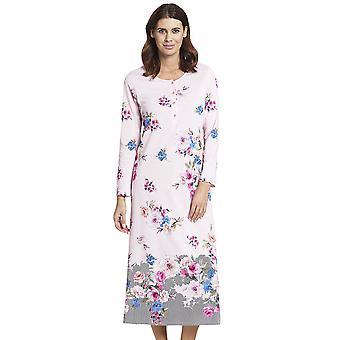 Rosch 1193591-16412 Women's New Romance Pink Floral Cotton Nightdress