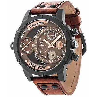 Police Brown Leather Strap Brown Black Dial 14536JSB/12A Watch