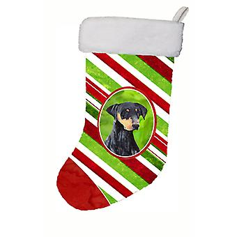Doberman Candy Cane Holiday Christmas Christmas Stocking SC9337