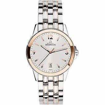 Michel Herbelin Mens Ambassador Rose Gold PVD Bracelet 12250/BTR12 Watch