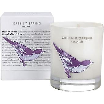 Green & Spring Relaxing Home Candle