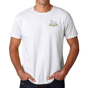 The Queens Own Hussars Embroidered Logo - Official British Army Cotton T Shirt