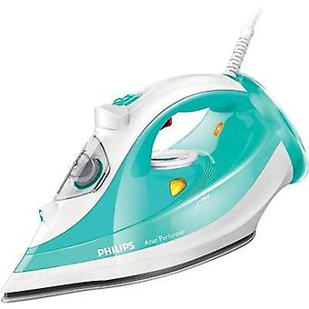 Steam iron Philips Green (transparent), White 2400 W