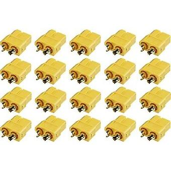 Battery receptacle XT60 Gold-plated 20 pc(s) Reely