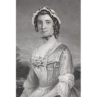 Mary Philipse 1730 - 1825 First Love Of George Washington From The Book Gallery Of Historical Portraits Published C1880 PosterPrint