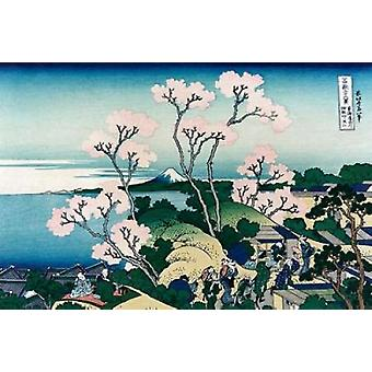 Goten-yama-hill Shinagawa on the Tokaido Road 1830 Poster Print by Hokusai