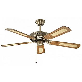 Ceiling Fan Classic antique brass with pull cord 132 cm / 52