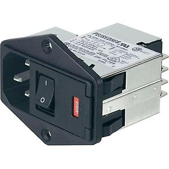 Mains filter + switch, + 2 fuses, + IEC socket 250 Vac 6 A TE Connectivity PS0SXDS6B=C1175 1 pc(s)