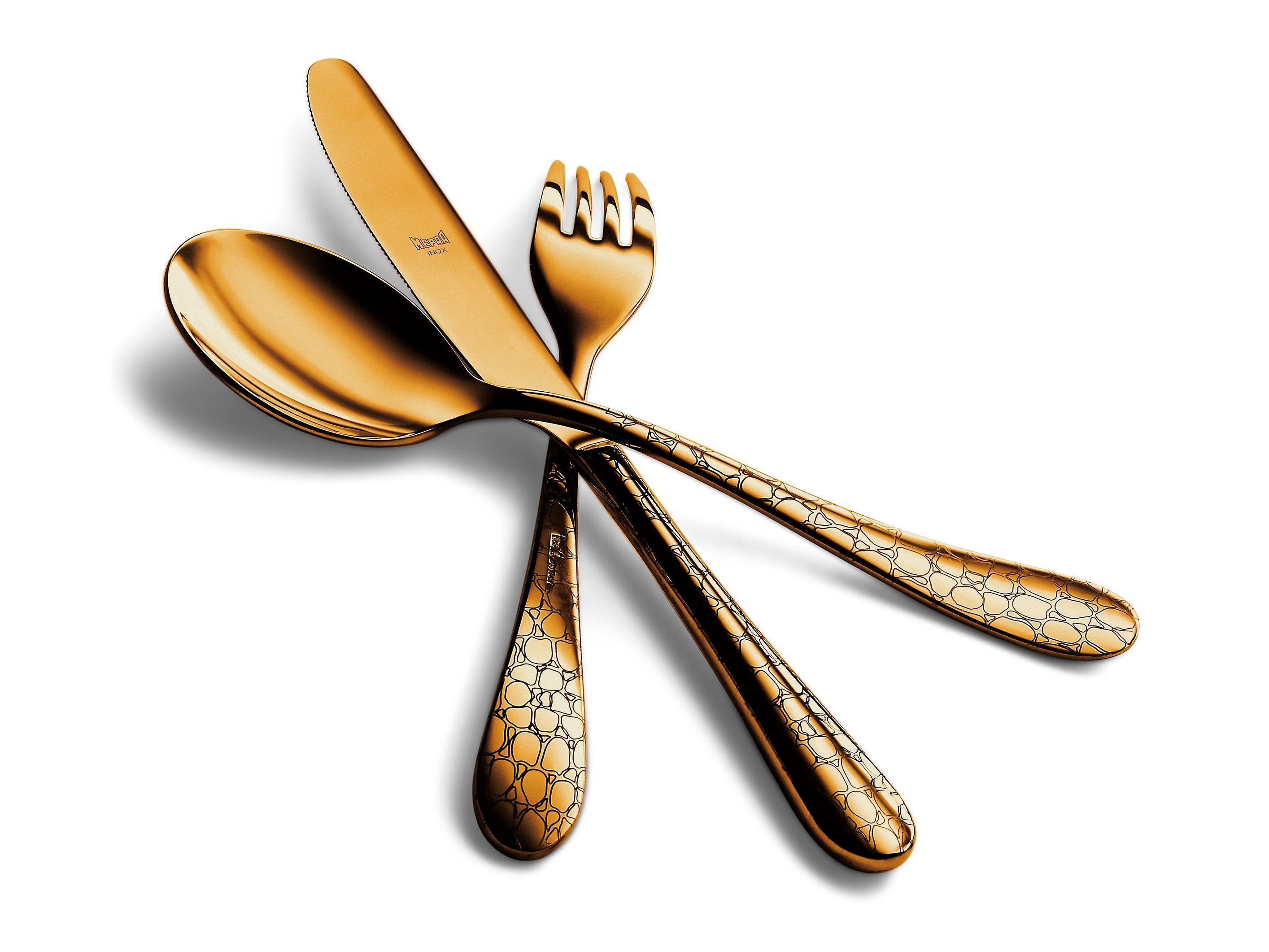 Mepra Coccodrillo Oro 4 pcs flatware set