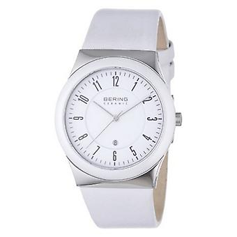 Bering Unisex Watch wristwatch slim ceramic - 32235-354 leather