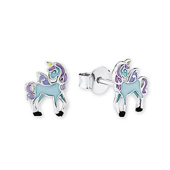 Princess Lillifee children earrings silver unicorn blue 2013159