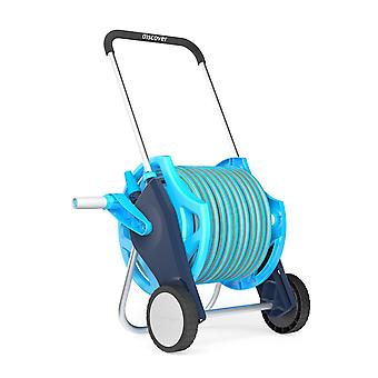Professional Garden Hose Reel Hosepipe Trolley Set Incl 20/25/50m Hose and Gun