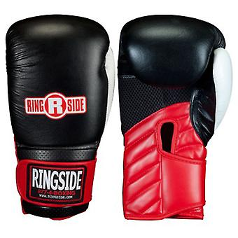 Am Ring Turnhalle Sparring Boxhandschuhe - schwarz/rot