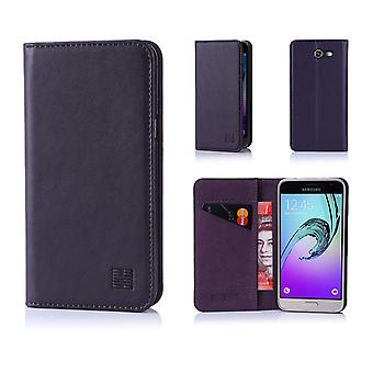 32nd Classic Real Leather Wallet for Samsung Galaxy J3 (2017) J327P - Aubergine
