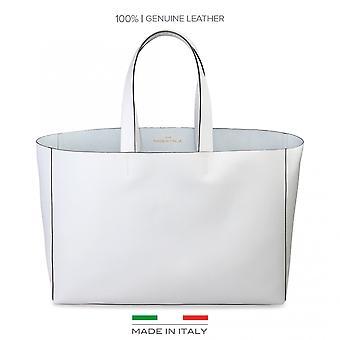 Lavet i Italien hvid Shopping taske ROMINA kvinde forår/sommer