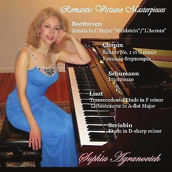 Sophia Agranovich - Romantic Virtuoso Masterpieces [CD] USA import