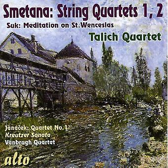 B. Smetana - Smetana: String Quartets Nos. 1 & 2: Suk: Meditation on st. Wenceslas [CD] USA import