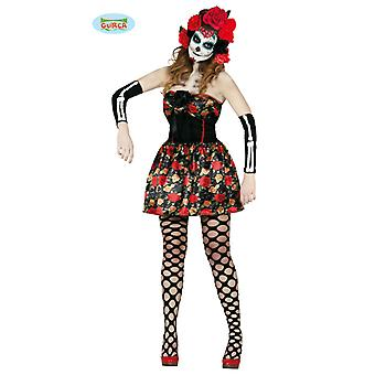 Day of the dead skull dress Halloween costume women