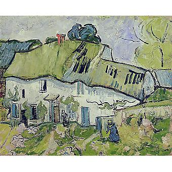 Vincent Van Gogh - Farmhouse with Two Figures, 1890 Poster Print Giclee
