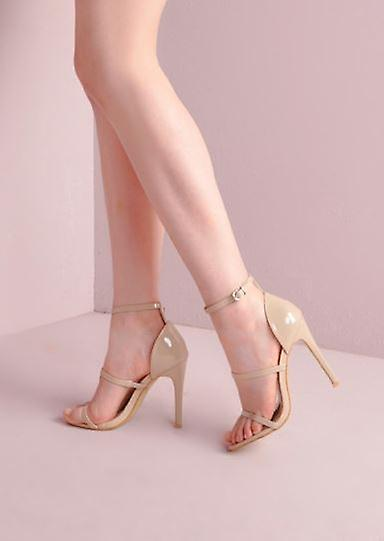 Stiletto Barely Three There Nude Straps Sandals Y1P0f