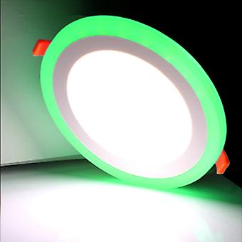 I LumoS Dual Colour LED 9 Watt Round Recessed Ceiling DownLight with Green Light