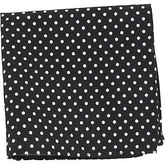Knightsbridge cravatte Polka Dot Pocket Square - bianco/nero